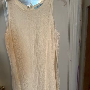 Long sleeve cold should rose lace dress